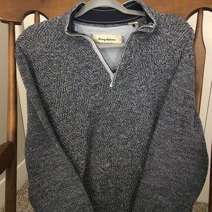 EUC Tommy Bahama 1/4 zip Sweater